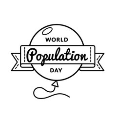 world population day greeting emblem vector image vector image