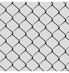 Realistic steel netting cut vector