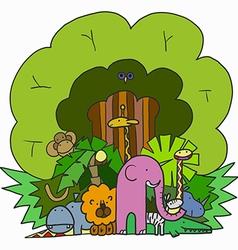 Company Cartoon Animals vector image