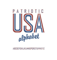 Patriot alphabet vector