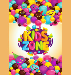 Kids zone poster vector