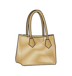 drawing handbag elegant fashion female vector image