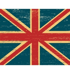 shabby British flag vector image