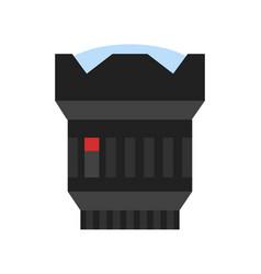 Modern camera photo lens icon vector