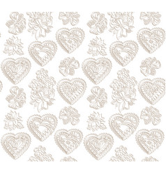 Love heart seamless pattern holiday greeting vector