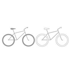 Bicycle grey set icon vector
