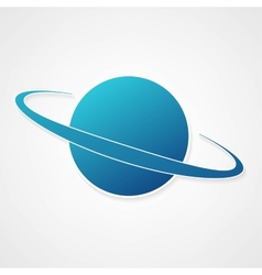 Planet blue icon vector
