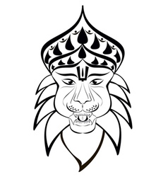 nrisimha outline vector image