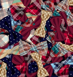 Pattern of bow-ties vector