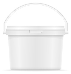 Plastic bucket for paint 05 vector