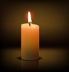 Realistic candle vector