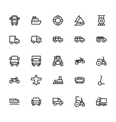 Transportation icons 3 vector