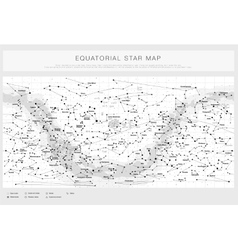 High detailed star map with names of stars vector