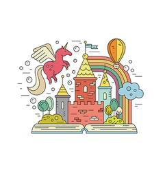Fairytale land vector