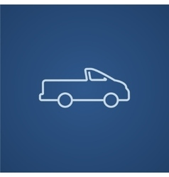Pick up truck line icon vector