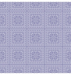 Symmetrical geometric background with squares vector