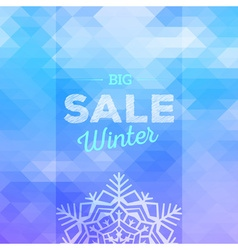 Winter sales background vector