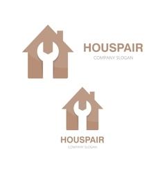 logo of repair of house vector image