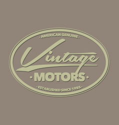 Vintage motor retro badges labels and logo vector
