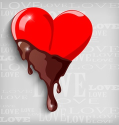 Abstract heart with chocolate vector
