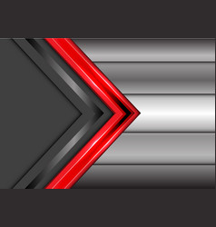 abstract red gray arrow overlap metal modern vector image vector image