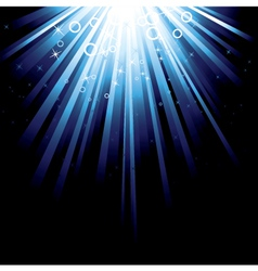 blue burst background vector image vector image