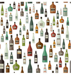 bottles pattern of drinks vector image vector image