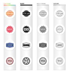 different types of labels novelty vintage vector image