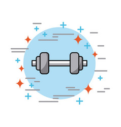 Dumbbells in circle health vector