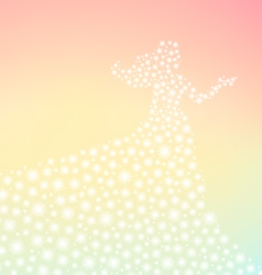 Fairy tale lady sparkling silhouette vector