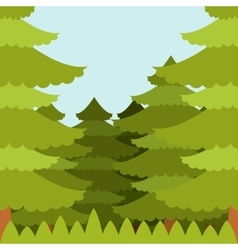 Forest flat background vector