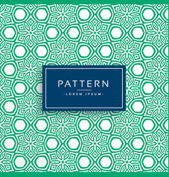 Green abstract flower style pattern background vector