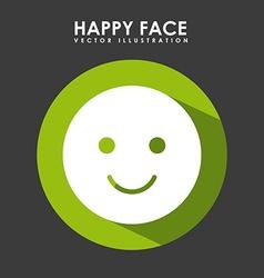 Happy face design vector