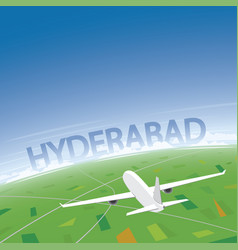 hyderabad flight destination vector image vector image