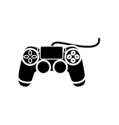 joystick console icon black vector image