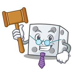 Judge dice character cartoon style vector