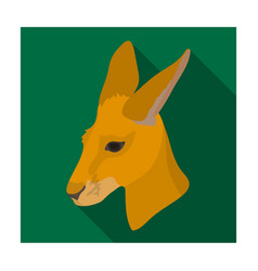 kangaroo icon in flat style isolated on white vector image vector image