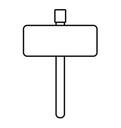 Line metal emblem notices to know signals vector