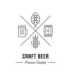 Logo craft beer vector
