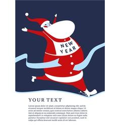 Lucky Santa vector image vector image