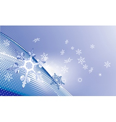 New Year background with snowflakes vector image