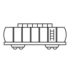 Oil railway tank icon outline style vector