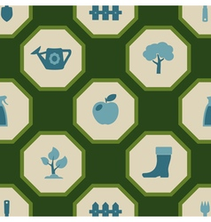 seamless background with Gardening related icons vector image vector image
