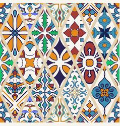 Seamless texture beautiful mega patchwork pattern vector