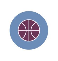 Stylish icon in color circle basketball ball vector