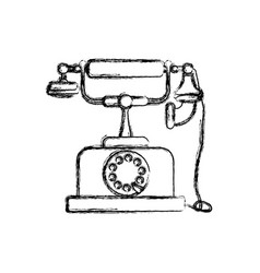 Vintage antique telephone vector