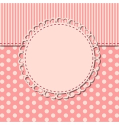 Vintage frame with bow vector