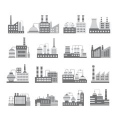 Warehouses building vector