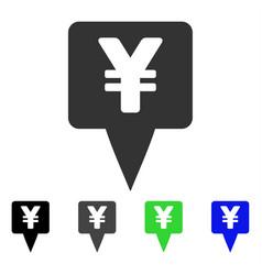 Yen map pointer flat icon vector