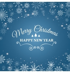 E-card for happy new year and merry christmas vector